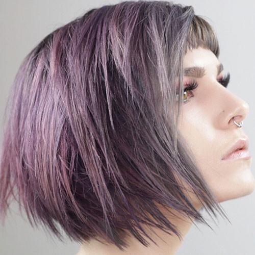 Layered-Bob-Hair Best Short Hairstyles for Girls 2019