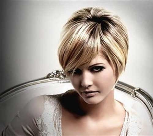 Layered-Long-Pixie-Hair-for-Chubby-Faces Short Haircuts For Chubby Faces