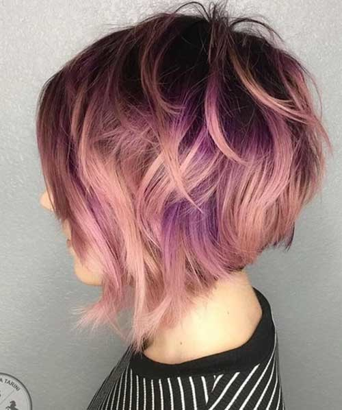 Rose-Gold-Ombre Really Trending Short Stacked Bob Ideas