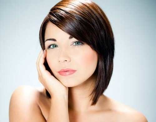 Short-Brown-Haircut-for-Chubby-Faces Short Haircuts For Chubby Faces
