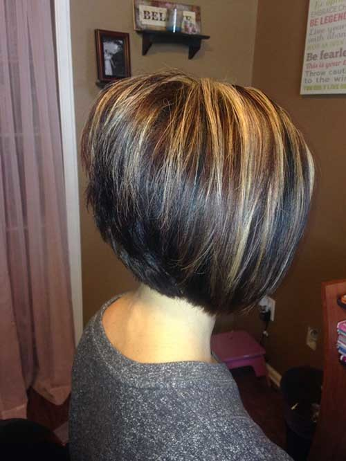 Short-Dark-Hair-with-Highlights Most Preferred Short Haircuts for Classy Ladies