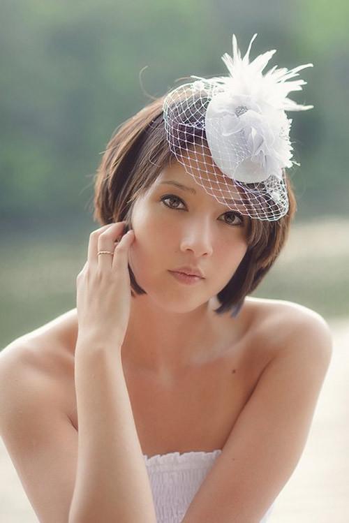 Short-straight-hair-wedding Best Wedding Hairstyles for Short Hair