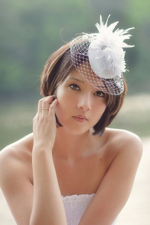 Short-straight-hair-wedding Best Wedding Hairstyles for Short Hair