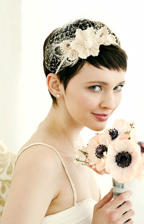 cute-wedding-short-hair-idea Best Wedding Hairstyles for Short Hair