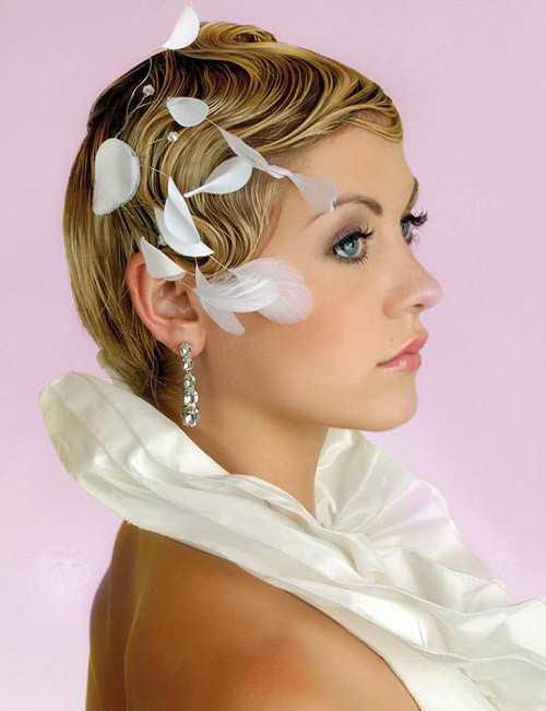 hairstyles-vintage-look Best Wedding Hairstyles for Short Hair