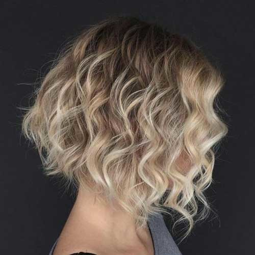 Blonde-Curly-Short-Hair Best Curly Short Hairstyles