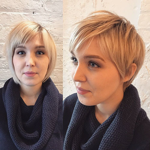 Blonde-Pixie-Hair Best Short Pixie Hairstyles 2018