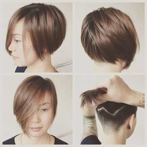 Chic-Undercut Latest Short Hairstyles with Fine Hair