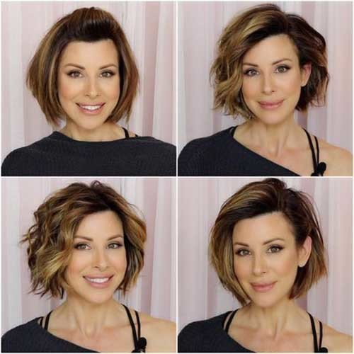 Layered-Hairstyle 2018 Latest Layered Short Haircuts for Round Faces
