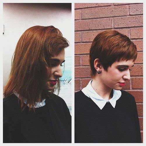 Layered-Short-Hair Before and After Pics of Short Haircuts