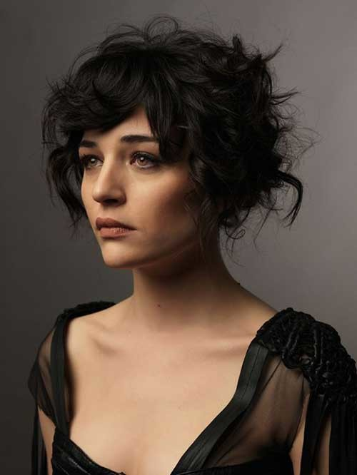 Messy-Bob-Hair Best Curly Short Hairstyles