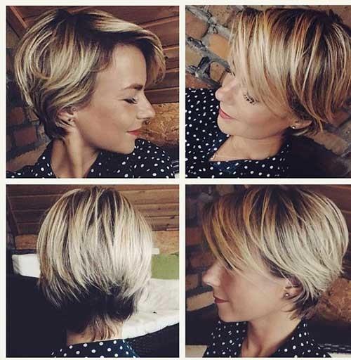 Pixie-Bob-Cut-Beige Best Short Bob Haircuts for Women