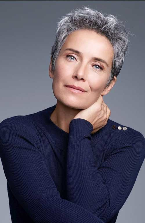 Short-Gray-Hair-2018 Classy Pixie Haircuts for Older Women