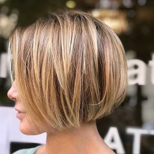 Short-Highlighted-Bob-2018 Best Short Bob Haircuts for Women