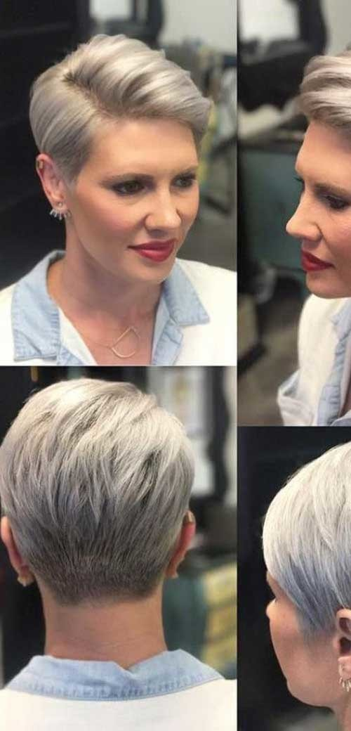 Side-Part-Pixie-Cut Classy Pixie Haircuts for Older Women