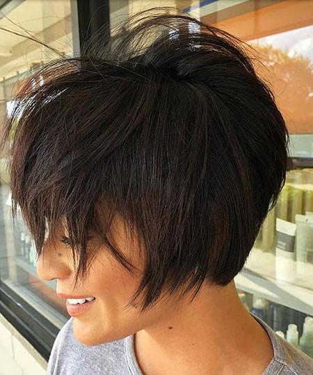 Straight-Messy-Hair Short Messy Haircuts