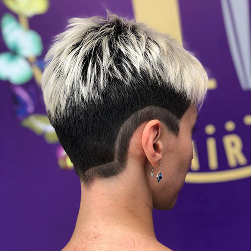 Two-Hair-Color Best Short Pixie Hairstyles 2018