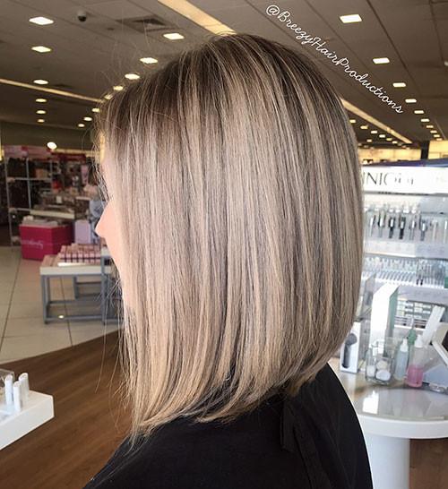 Angled-Bob-Hair Popular Short Haircuts 2018 – 2019