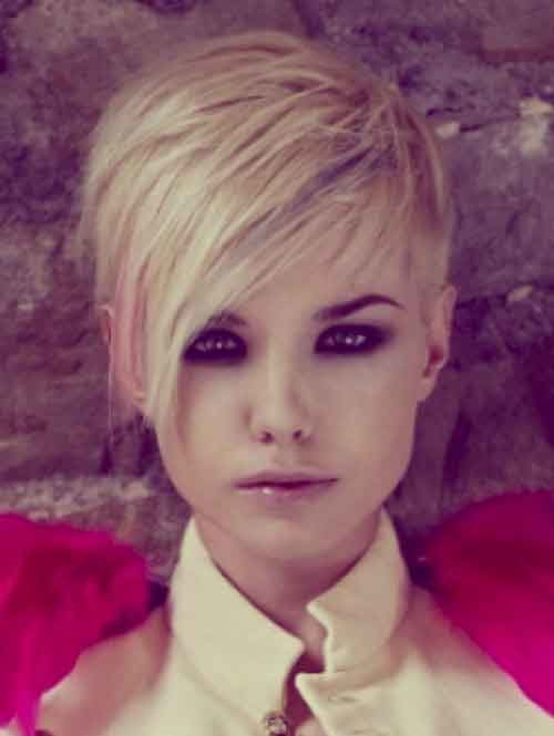 Asymmetric-hair-for-oval-face Best Short Haircuts for Oval Faces