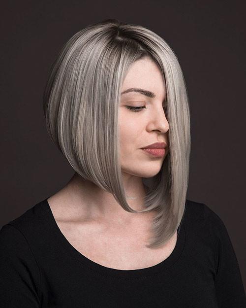 Asymmetrical-Bob-Haircut-1 Popular Short Haircuts 2018 – 2019