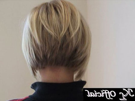 Back-View-of-Bob-Cut Short Inverted Bob Hairstyles