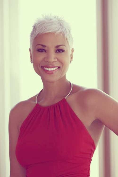 Black-women-with-short-white-hair Best Black Short Hairstyles for Women