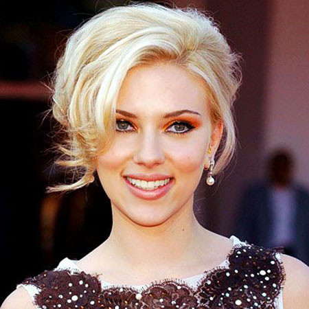Blonde-Updo-Hair-1 Scarlett Johansson Short Hairstyles