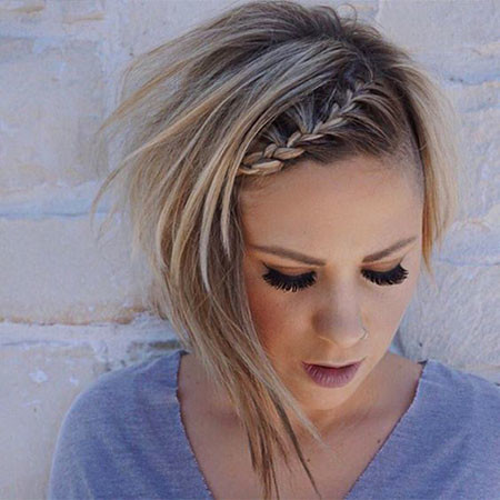 Braided-Bob-Style Upstyles for Short Hair