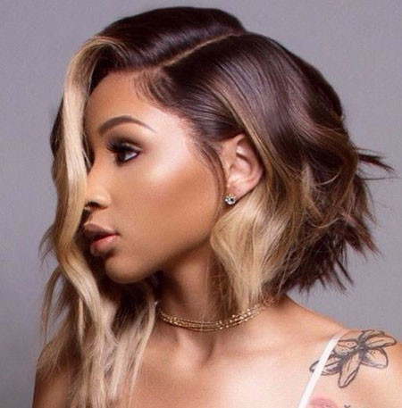 Brown-Ombre-Hair-Color Best Short Hairstyles for Black Women 2018 – 2019