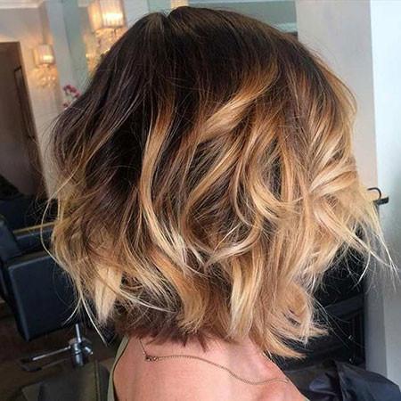 Caramel-Balayage-Short-Hair Popular Short Haircuts 2018 – 2019