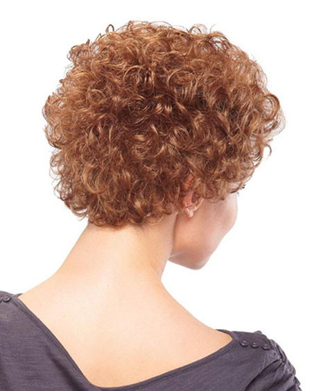 Curly-Hair-Back-View Popular Short Curly Hairstyles 2018 – 2019