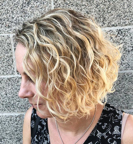 Curly-Medium-Hair Trendy Short Hairstyles 2019