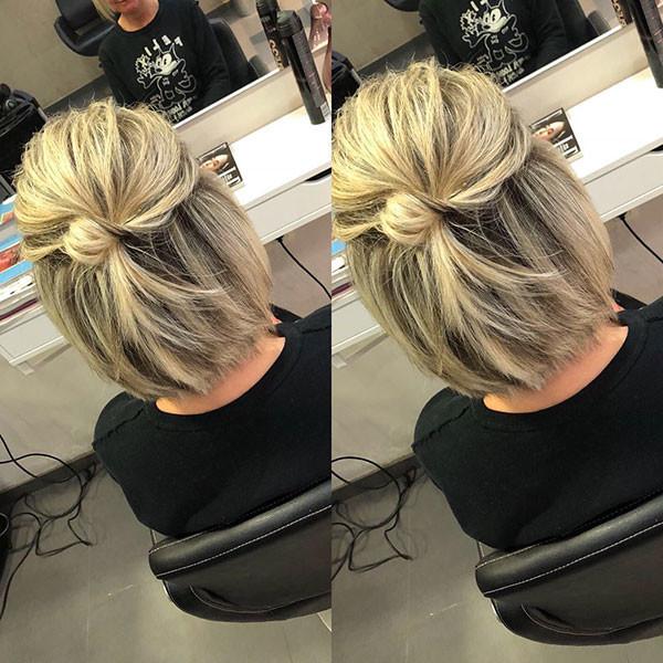 Cute-Bob-Hair-Bun Best New Bob Hairstyles 2019