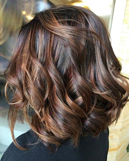 Dark-Hair-Color Hair Color Ideas for Short Haircuts