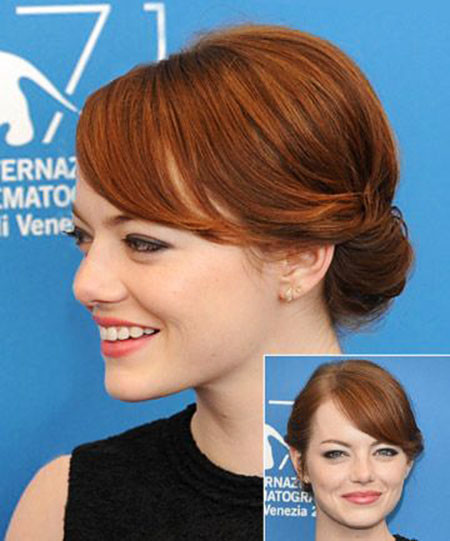 Emma-Stone-Updo-Hair Upstyles for Short Hair