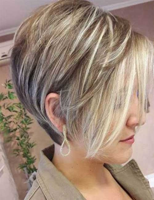 Fine-Hair-Stacked-Cut Charming Stacked Short Haircuts for Women