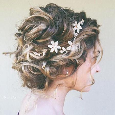 Floral-Wedding-Hair Wedding Hairstyles for Short Hair