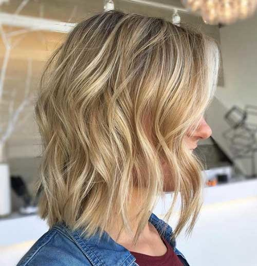 Golden-Blond-with-Highlights-Bob Best Short Haircuts for 2018-2019