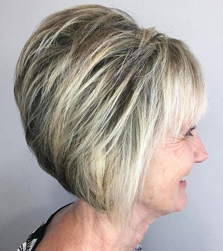 Graduated-Bob-Hair Short Bob Haircuts 2019
