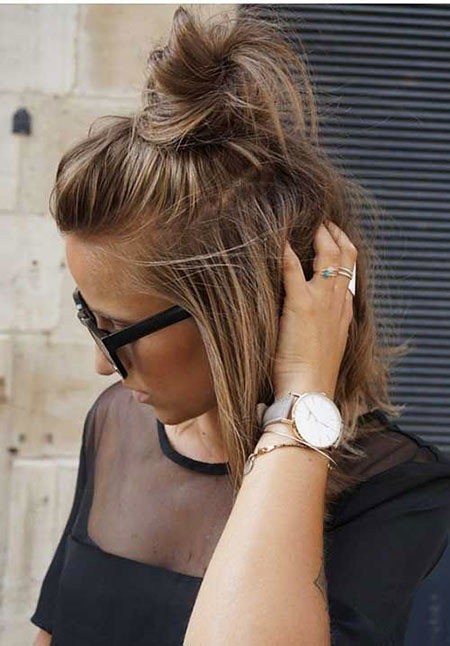 Hair-Bun-for-Short-Hair Hair Buns for Short Hair