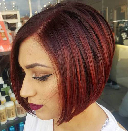 Inverted-Bob-Hairstyle Short Bob Haircuts 2019