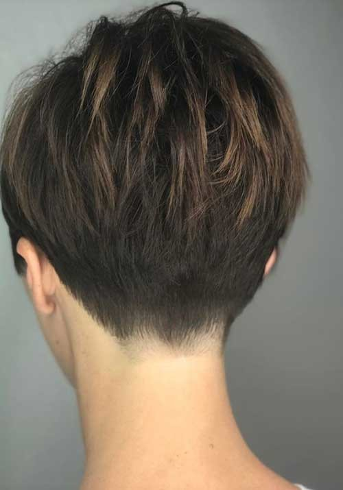 Layered-Hair-Back-View Best Short Haircuts for 2018-2019