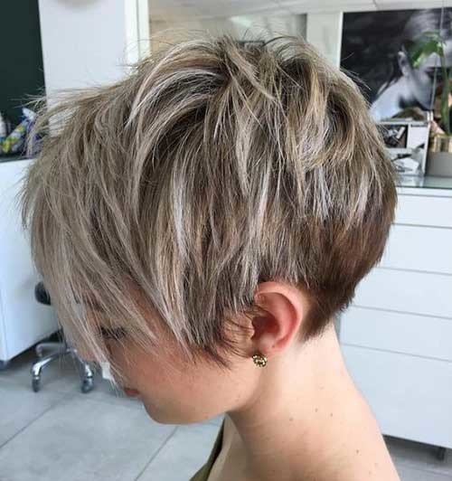 Layered-Long-Pixie-Style Best Short Haircuts for 2018-2019