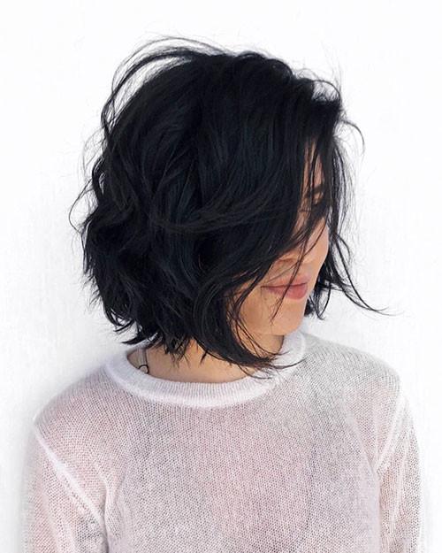 Layered-Thick-Hair Short Layered Haircuts 2018 – 2019