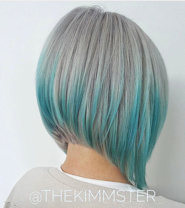 Light-Blue-Bob-Hair Best New Bob Hairstyles 2019