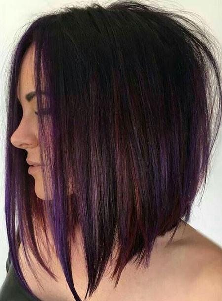 Long-Asymmetrical-Bob-Hairstyle Popular Short Haircuts 2018 – 2019