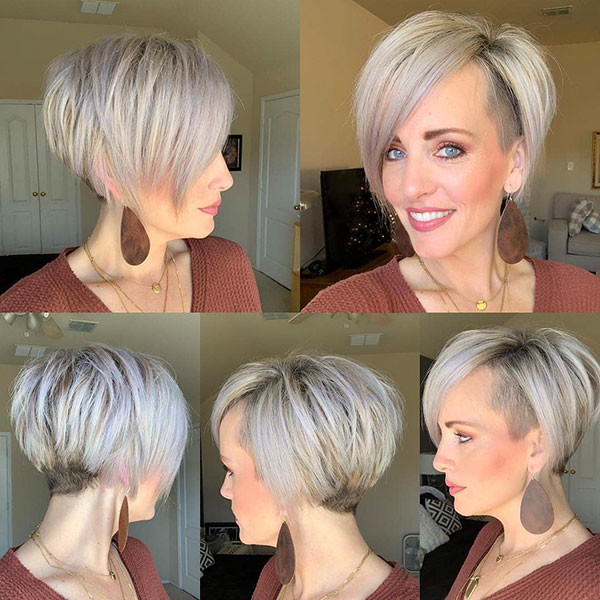 Long-Straight-Pixie-Cut Short Straight Hairstyles 2019