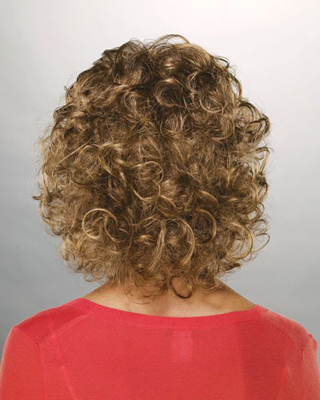 Mahogany-Curly-Bob-Hair Popular Short Curly Hairstyles 2018 – 2019