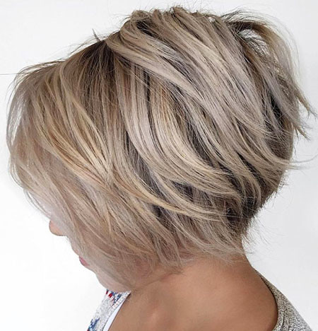 Messy-Style Short Inverted Bob Hairstyles