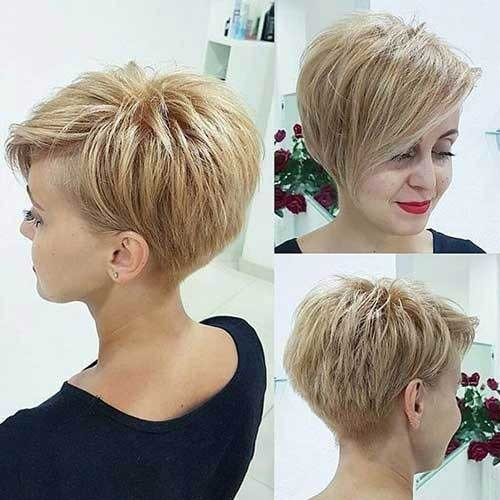 Modern-Pixie Charming Stacked Short Haircuts for Women